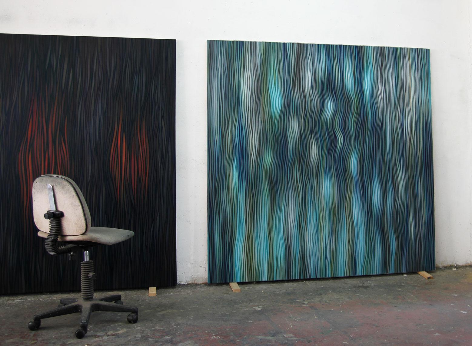 Studio view Paintings